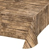 Wood Grain All Over Print Plastic Tablecover 54x108