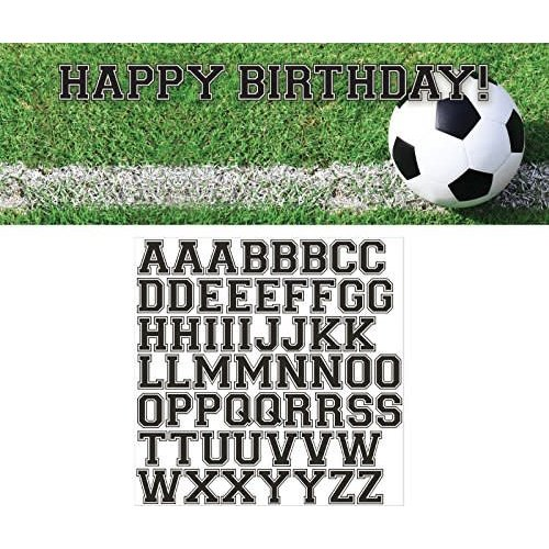 Sports Fan Soccer Birthday Banner