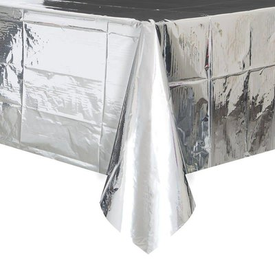 Foil Silver Rectangle Tablecover