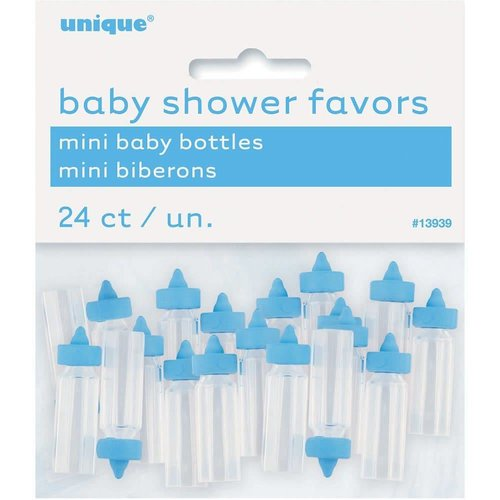 Blue Mini Baby Bottle Baby Shower Favors