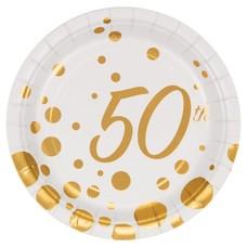 "Sparkle Shine 50 Dessert 7"" Plates 8ct"