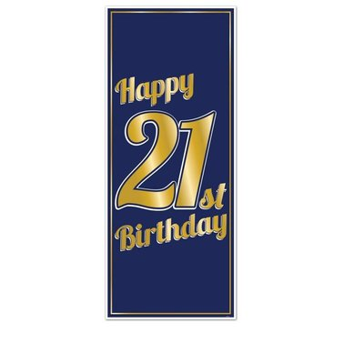 21st Birthday Door Poster