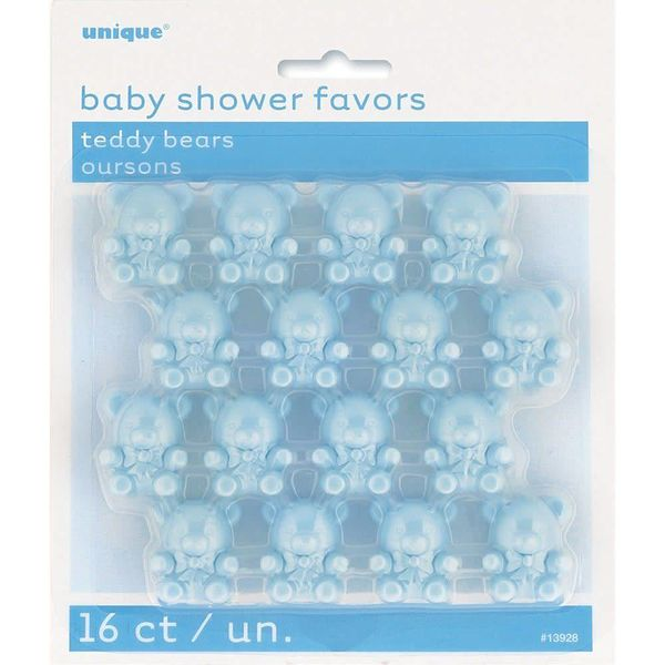Blue Teddy Bear Baby Shower Favors