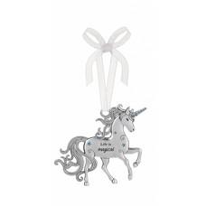 Life is Magical Unicorn Ornament