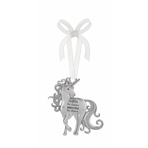 Sisters by Chance Unicorn Ornament