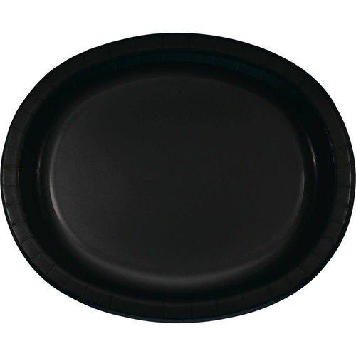 *Black Velvet Oval Platters 8ct