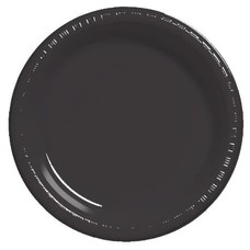"""*Black Velvet 7"""" Plastic Plates 20ct"""