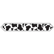Cow Print Table Runner