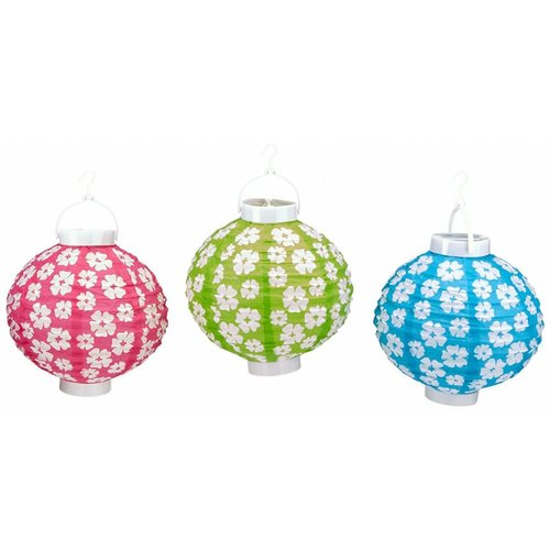 Hibiscus Light Up Paper Lantern