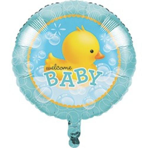 "Bubble Bath Welcome Baby 18"" Mylar Balloon"