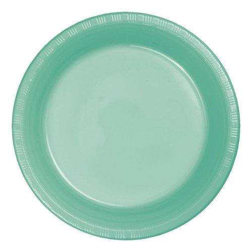 "*Fresh Mint 10"" Plastic Banquet Plates 20ct"