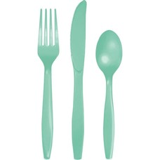 *Fresh Mint Assorted Cutlery 24ct
