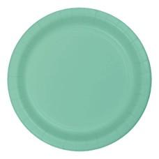 """*Fresh Mint 7"""" Round Paper Dessert Plates 24ct"""