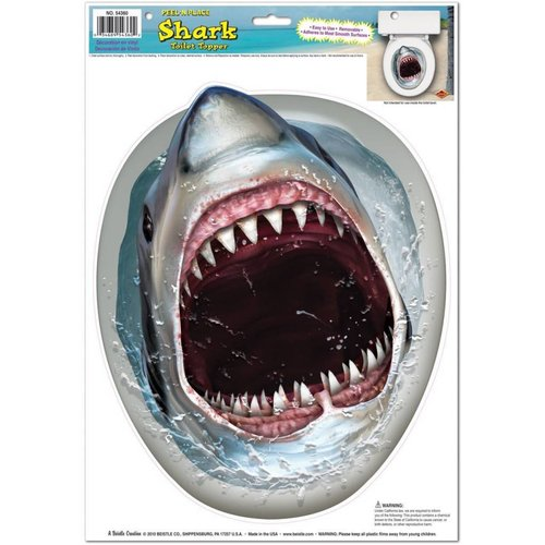 *Shark Toilet Topper