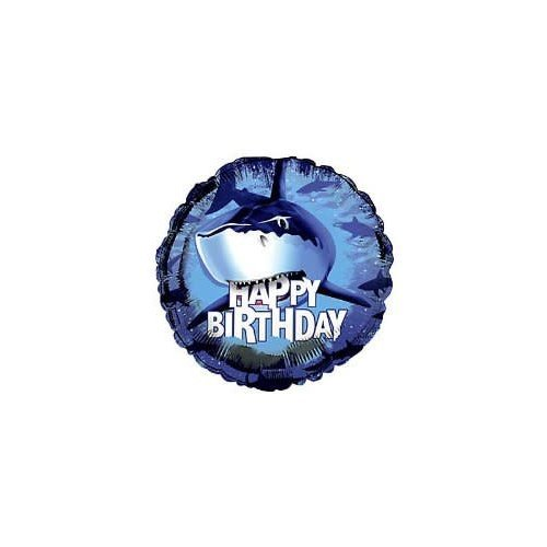 "*Shark Splash 18"" Mylar Balloon"