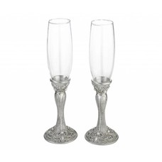 Elegant Jeweled Champagne Glasses