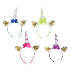 Unicorn Headband 4ct