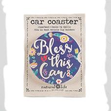 Natural Life Car Coaster Bless This Car
