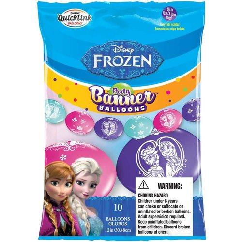M&D industries **Frozen Party Banner Balloons 10ct