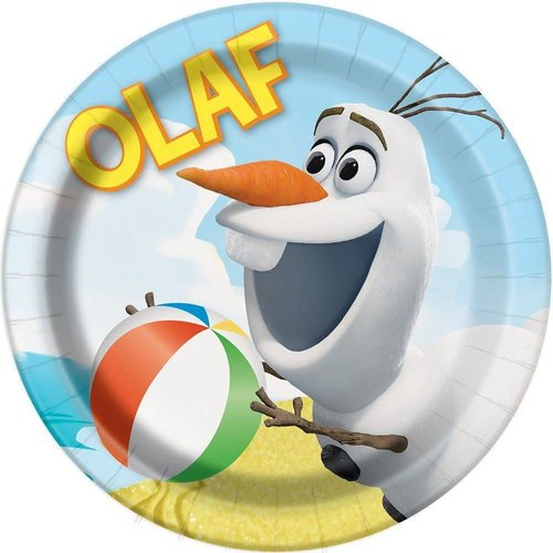 "**Olaf In the Summer 7"" Dessert Plates"