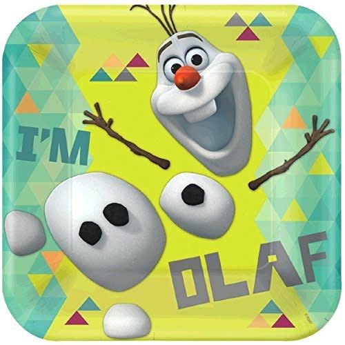 "**Olaf 9"" Square Dinner Plates 8ct"