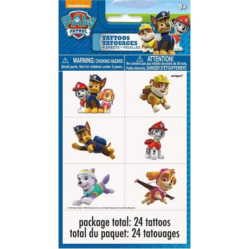 *Paw Patrol Tattoos 24ct
