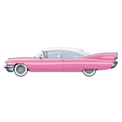 Jointed 50's Pink Cruisin' Car 6'