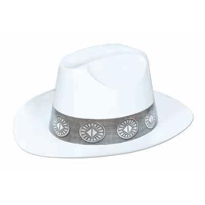 White Plastic Cowboy Hat