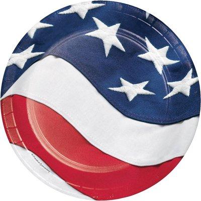 "Freedoms Flag 7"" Dessert Plates 8ct"