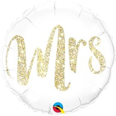 Mrs. Gold Mylar Balloon