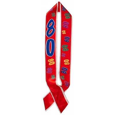 *80 Birthday Sash