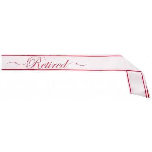 *Retirement Sash Pink & White