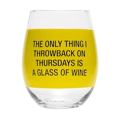 About Face Designs Throwback Thursday Stemless Wine Glass