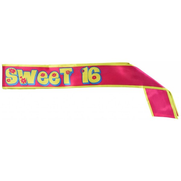 *Sweet Sixteen Cloth Flower Sash
