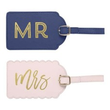 CR Gibson Mr. & Mrs. Luggage Tags