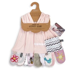 Mommy & Me Activity Scarf in Pink