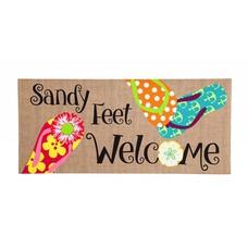 Sassafrass Sandy Feet Welcome Mat
