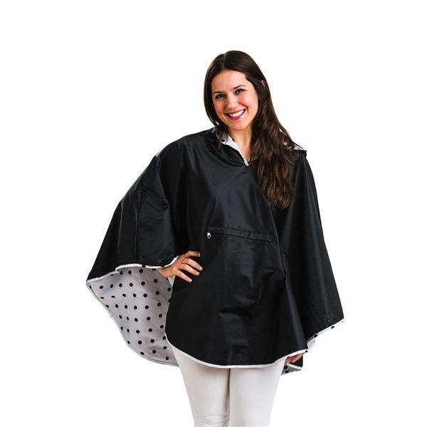 Reversible Rain Poncho, 2 Asst, Navy, Black