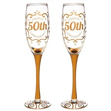 50th Anniversary Champagne Flutes