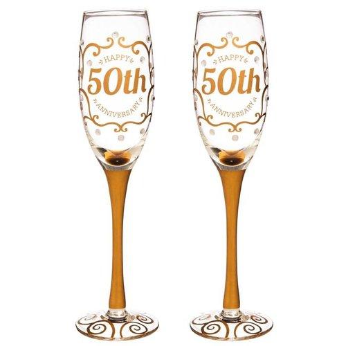 50th Anniversary Champagne Flutes