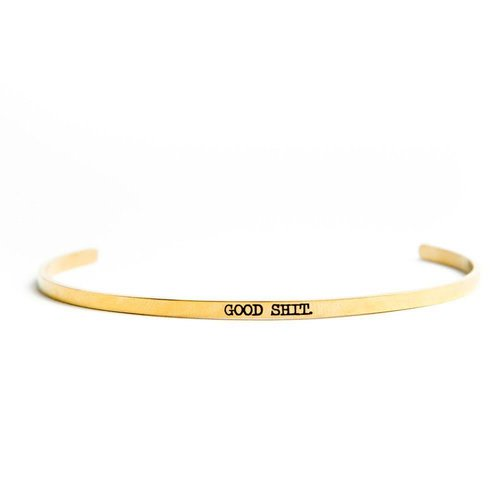 Triple F Good Shit Gold Bangle