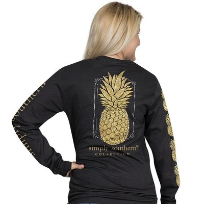 Long Sleeve Pineapple Black