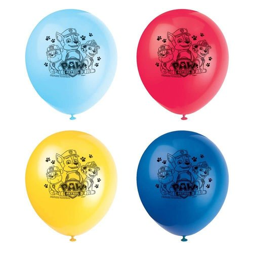 *Paw Patrol 8ct latex balloons