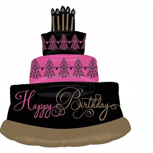 *Fabulous Celebration Cake 32x28 Super Shape Mylar Balloon