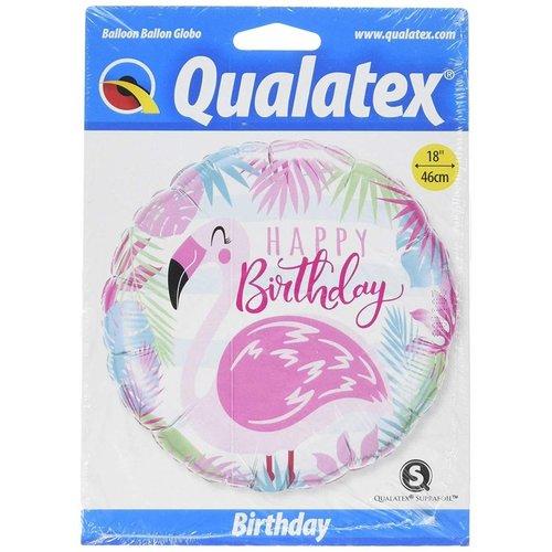 "*Happy Birthday Pink Flamingo 18"" Mylar Balloon"