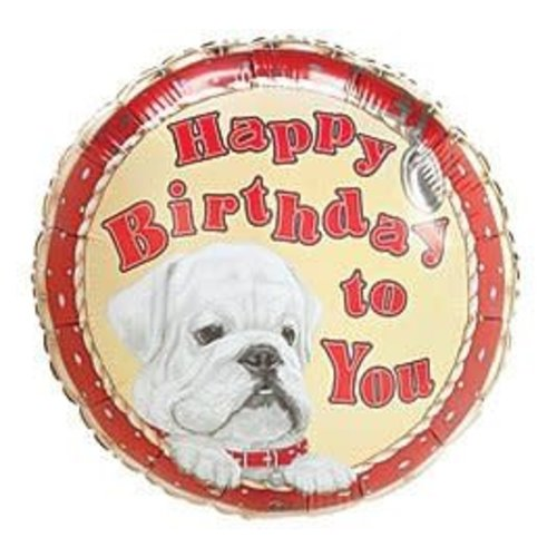 *Bulldog Birthday Mylar Balloon