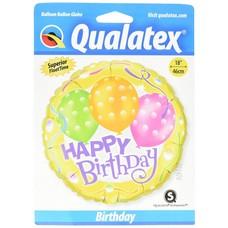 "Pioneer Balloon Company *Yellow Happy Birthday 18"" Mylar Balloon"