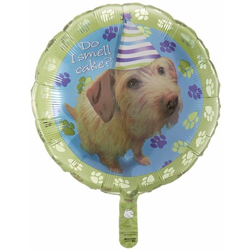 """*Party Puppy Lime 18"""" Mylar Balloon"""
