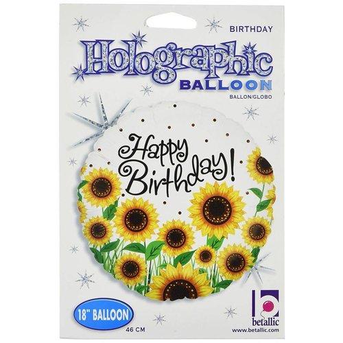 """*Sunny Sunflower Birthday 18"""" Mylar Balloon"""