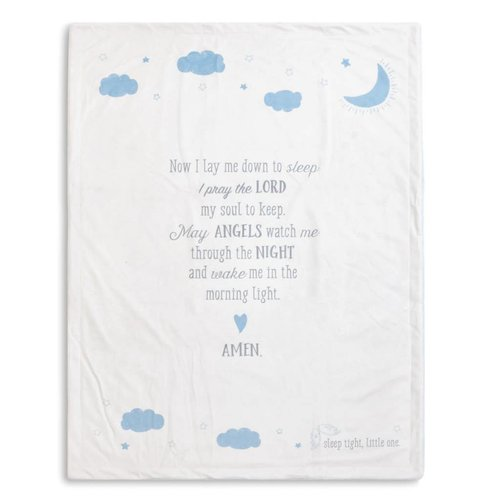 Blue Goodnight Prayer Blanket